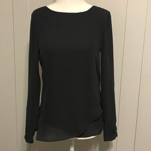 NWOT Banana Republic Gray Chiffon Blouse